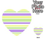 Yellow Purple Green Stripes Playing Cards 54 (Heart)  Back