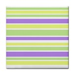 Yellow Purple Green Stripes Face Towel Front