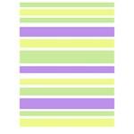 Yellow Purple Green Stripes LOVE Bottom 3D Greeting Card (7x5)  Inside