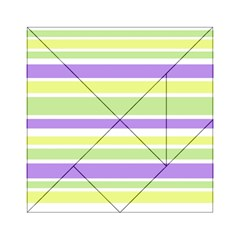 Yellow Purple Green Stripes Acrylic Tangram Puzzle (6  x 6 )