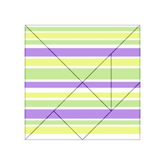 Yellow Purple Green Stripes Acrylic Tangram Puzzle (4  X 4 )