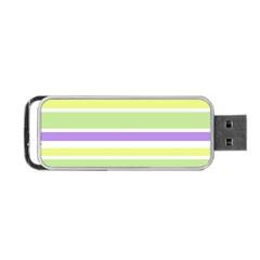 Yellow Purple Green Stripes Portable USB Flash (Two Sides)