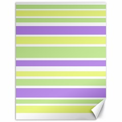 Yellow Purple Green Stripes Canvas 18  x 24