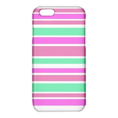 Pink Green Stripes iPhone 6/6S TPU Case