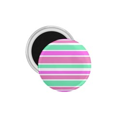 Pink Green Stripes 1 75  Magnets
