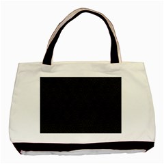 Black Perfect Stitch Basic Tote Bag (two Sides)