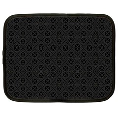 Black Perfect Stitch Netbook Case (large)