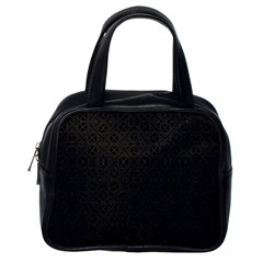 Black Perfect Stitch Classic Handbags (one Side)