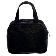 Black Perfect Stitch Classic Handbags (2 Sides)
