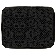 Black Perfect Stitch Netbook Case (xl)