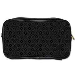 Black Perfect Stitch Toiletries Bags 2-Side