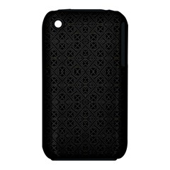 Black Perfect Stitch Apple iPhone 3G/3GS Hardshell Case (PC+Silicone)