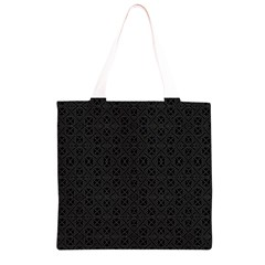 Black Perfect Stitch Grocery Light Tote Bag