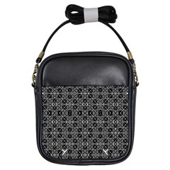 Number Art Girls Sling Bags