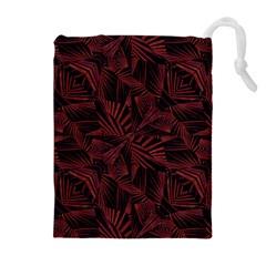Sharp Tribal Pattern Drawstring Pouches (extra Large)