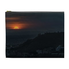Sunset Scene Landscape Aerial View In Guayaquil From Cerro Del Carmen Cosmetic Bag (XL)
