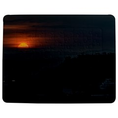 Sunset Scene Landscape Aerial View In Guayaquil From Cerro Del Carmen Jigsaw Puzzle Photo Stand (Rectangular)