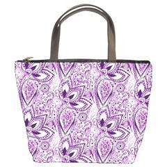 Purple Paisley Doodle Bucket Bags