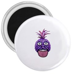 Funny Fruit Face Head Character 3  Magnets