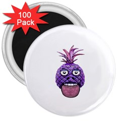 Funny Fruit Face Head Character 3  Magnets (100 Pack)