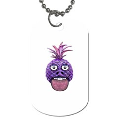 Funny Fruit Face Head Character Dog Tag (Two Sides)