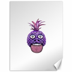 Funny Fruit Face Head Character Canvas 36  x 48