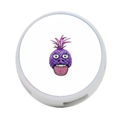 Funny Fruit Face Head Character 4-Port USB Hub (One Side)