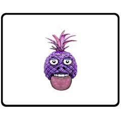 Funny Fruit Face Head Character Fleece Blanket (medium)