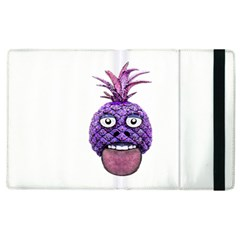 Funny Fruit Face Head Character Apple iPad 3/4 Flip Case