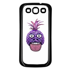 Funny Fruit Face Head Character Samsung Galaxy S3 Back Case (Black)