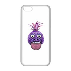 Funny Fruit Face Head Character Apple iPhone 5C Seamless Case (White)