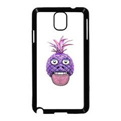Funny Fruit Face Head Character Samsung Galaxy Note 3 Neo Hardshell Case (Black)