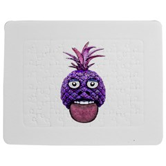 Funny Fruit Face Head Character Jigsaw Puzzle Photo Stand (rectangular)