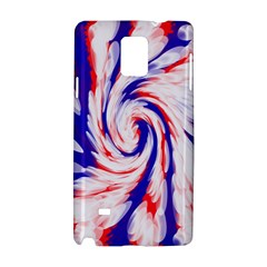 Groovy Red White Blue Swirl Samsung Galaxy Note 4 Hardshell Case