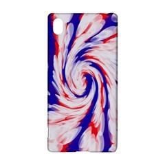 Groovy Red White Blue Swirl Sony Xperia Z3+
