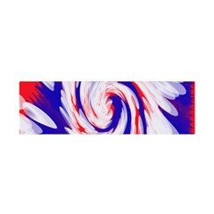 Groovy Red White Blue Swirl Satin Scarf (Oblong)