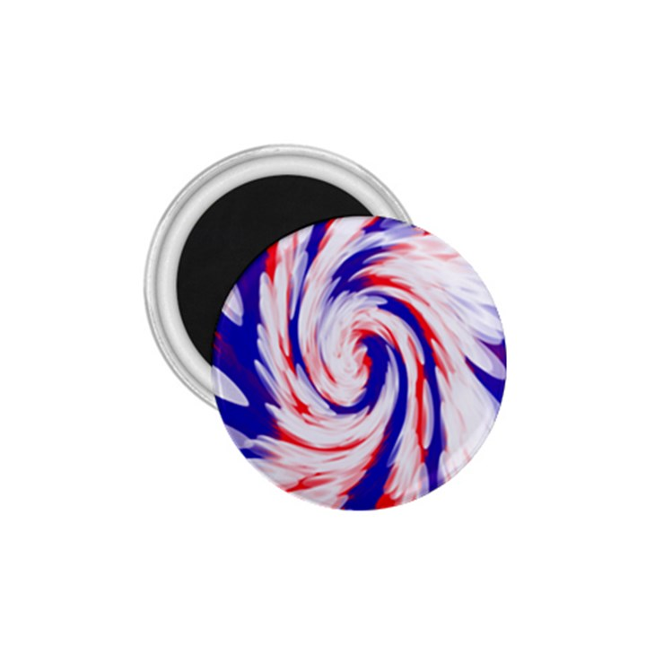 Groovy Red White Blue Swirl 1.75  Magnets