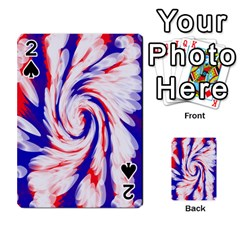 Groovy Red White Blue Swirl Playing Cards 54 Designs