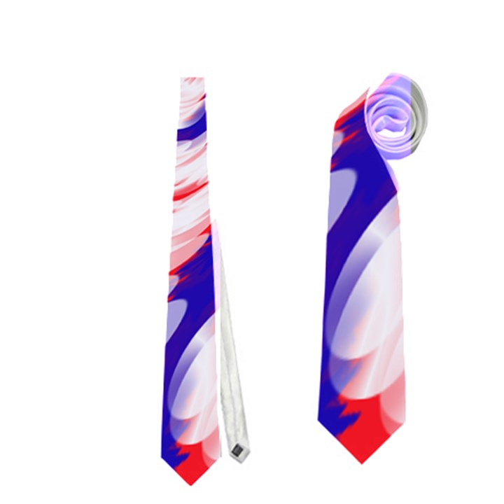 Groovy Red White Blue Swirl Neckties (Two Side)