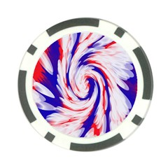 Groovy Red White Blue Swirl Poker Chip Card Guards