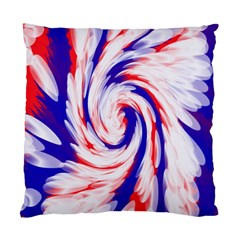 Groovy Red White Blue Swirl Standard Cushion Case (two Sides)
