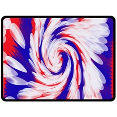Groovy Red White Blue Swirl Fleece Blanket (large)