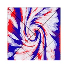 Groovy Red White Blue Swirl Acrylic Tangram Puzzle (6  x 6 )