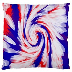 Groovy Red White Blue Swirl Standard Flano Cushion Case (One Side)