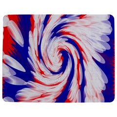 Groovy Red White Blue Swirl Jigsaw Puzzle Photo Stand (rectangular)