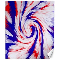 Groovy Red White Blue Swirl Canvas 20  x 24