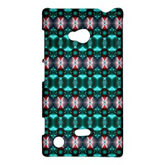 Fancy Teal Red Pattern Nokia Lumia 720