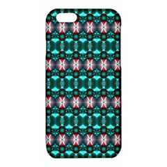 Fancy Teal Red Pattern iPhone 6/6S TPU Case