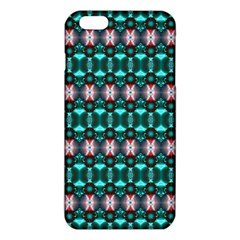 Fancy Teal Red Pattern Iphone 6 Plus/6s Plus Tpu Case