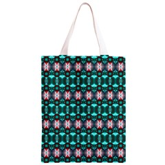 Fancy Teal Red Pattern Classic Light Tote Bag